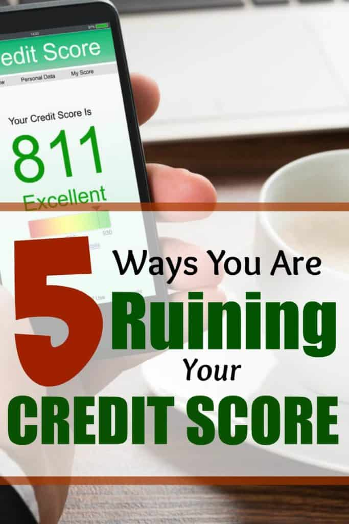 Want to learn why you are ruining your credit score. Improve your credit score now.