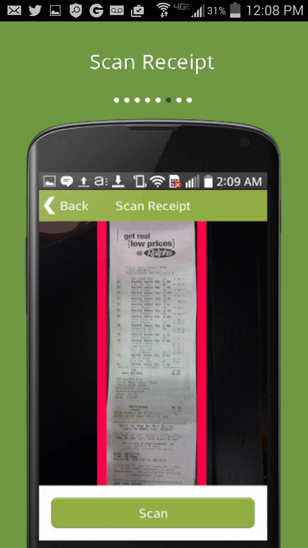 BerryCart App Receipt Scan