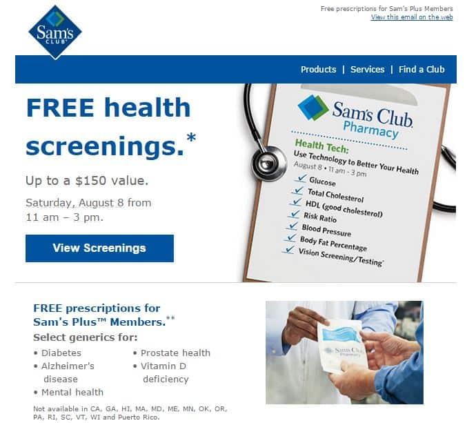 Free Health Screening