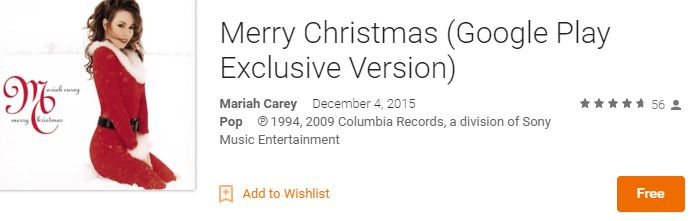 Free Mariah Carey Christmas Album