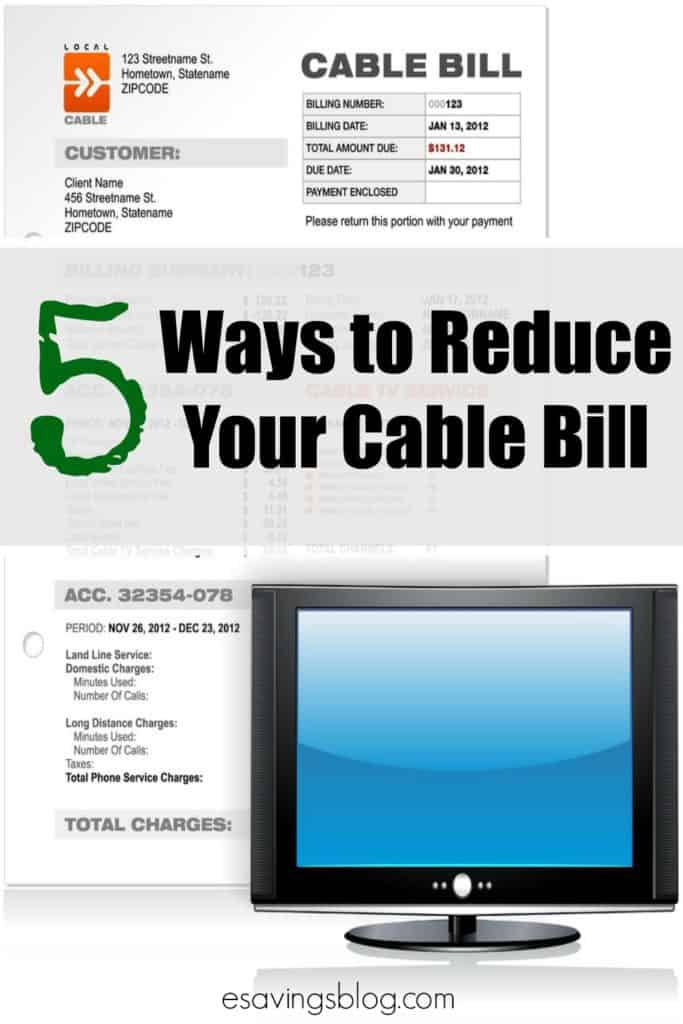 Picture of a cable bill