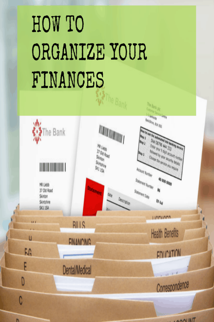 Organize your Finances: Create a filing system that works with these tips.