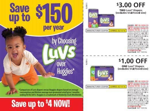 Save Money on Luvs Diapers. Use Luvs Coupons and Submit for Ibotta Rebate.
