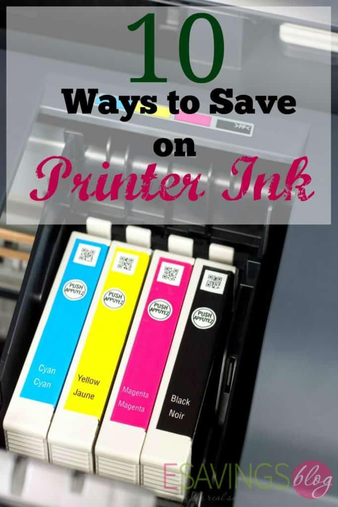 Ways to Save Money on Printer Ink