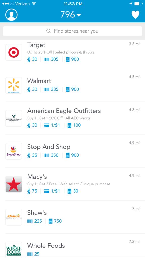 Earn money using the Shopkick App