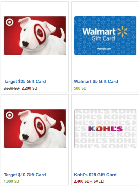 Earn Free Gift Cards with Swagbucks rewards
