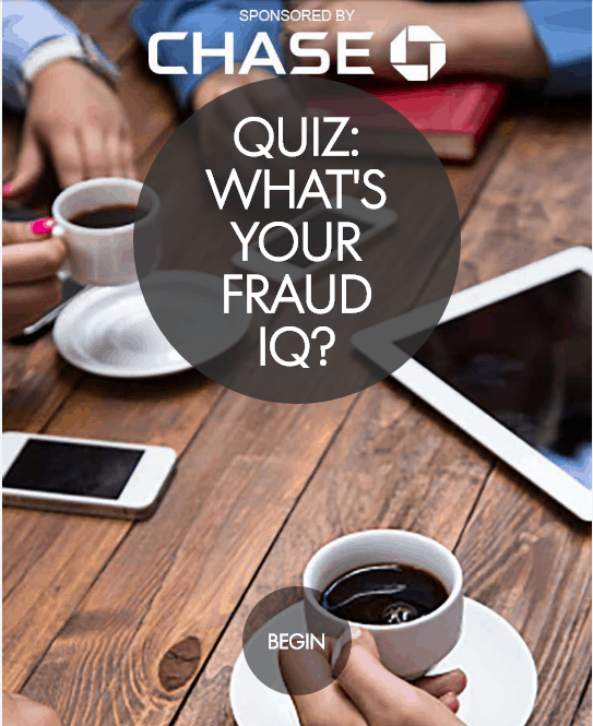 Are you protecting yourself against identity theft? Take the Chase Fraud IQ Quiz