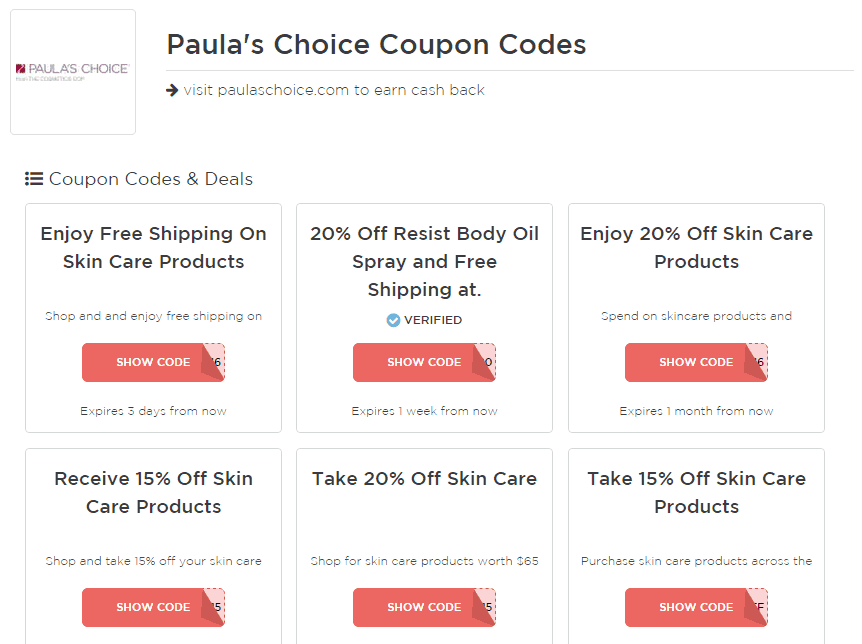 Paula's Choice Cashback through Giving Assistant