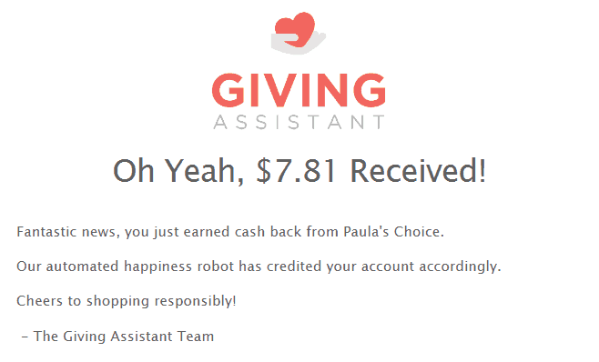 You can easily earn Giving Assistant cashback
