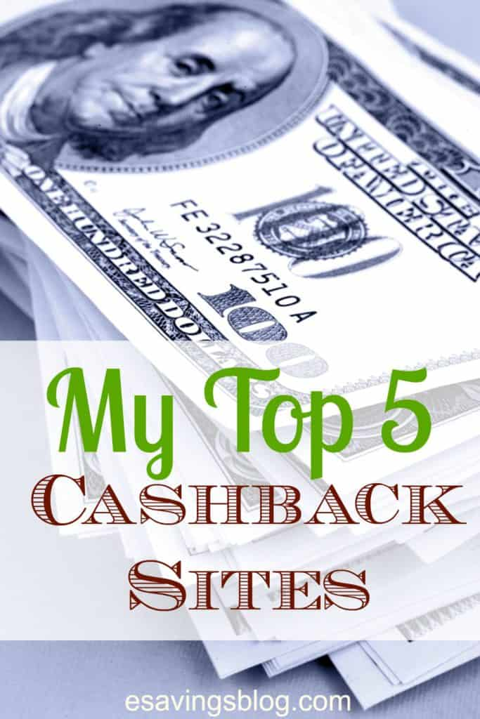 Check out my Top 5 Cashback Sites and learn how to save money by getting cash back on your purchases.