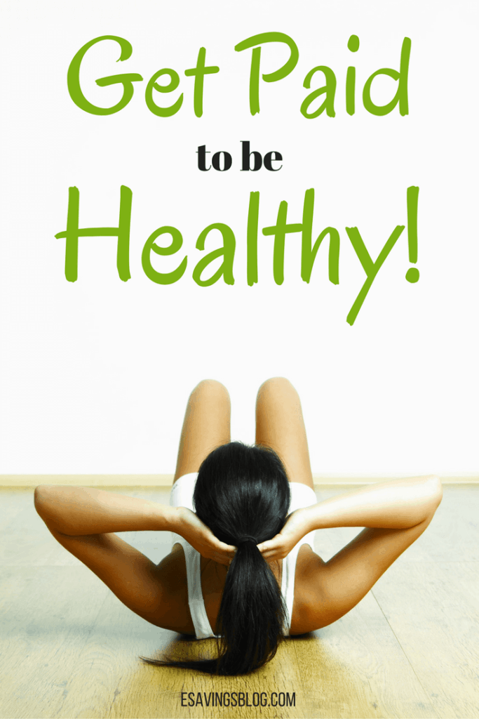 A girl exercising on the floor and text that says Get Paid to be Healthy.