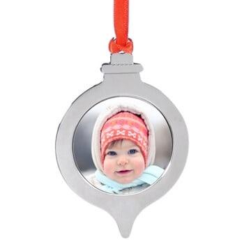 Personalized glass ornament