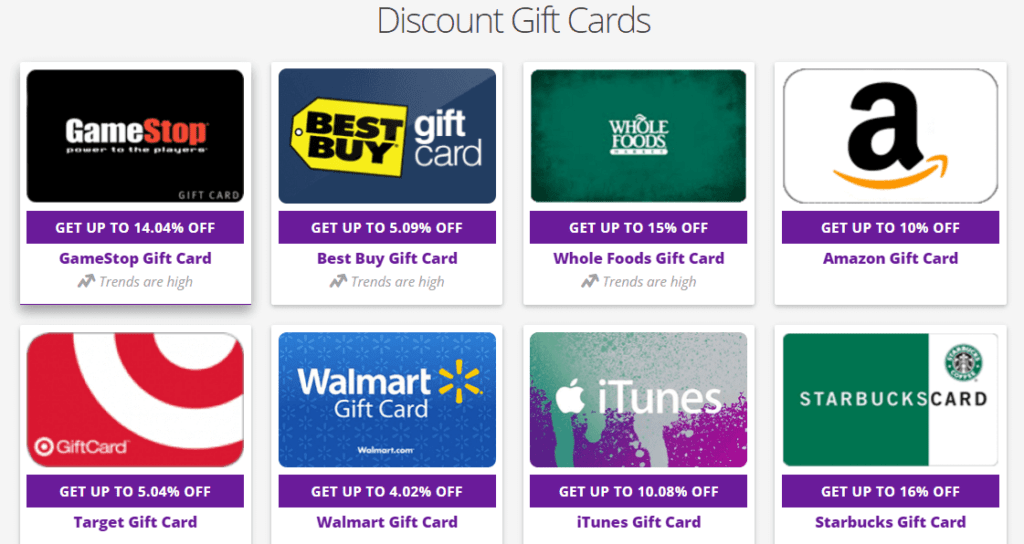 Buy Gift Cards. Earn cash back when you purchase your favorite gift card brands online: Choose a plastic gift card or eGift card. Choose a gift card amount $$ No activation fees. No purchase fees. Cards never expire. Earn G Money reward points on select purchases at ashedplan.gq and save on future gift card purchases.
