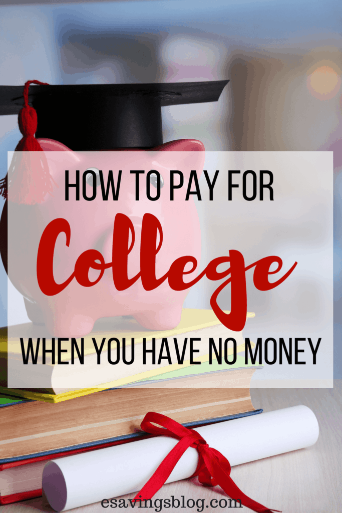 Wondering how to pay for college when you have no savings? Check out these tips on how to pay for college.