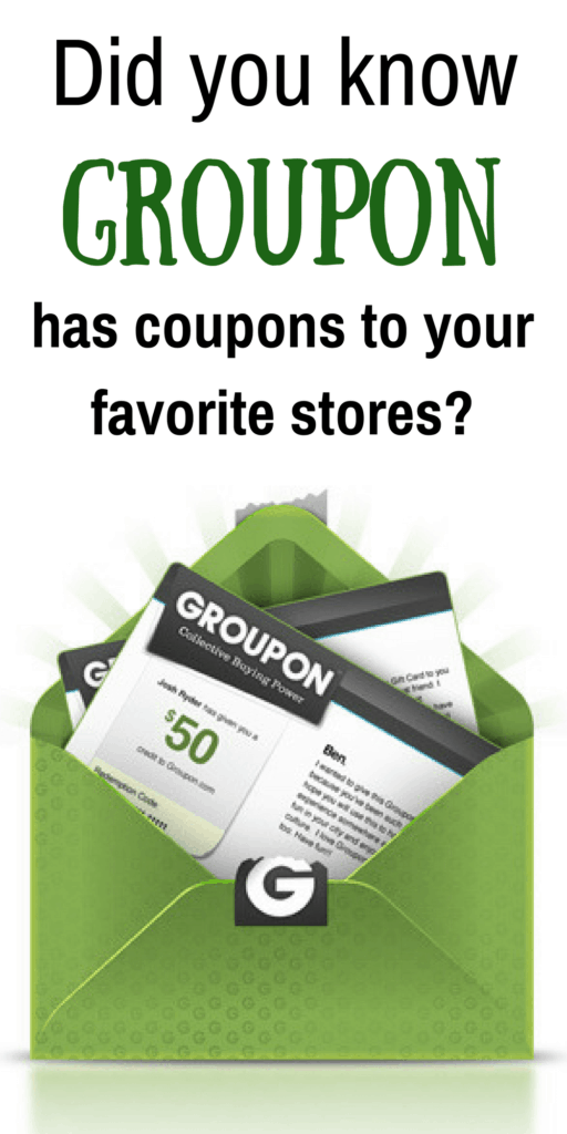 Looking for coupon codes to your favorite stores? Check out Groupon for the latest free coupons and coupon codes.