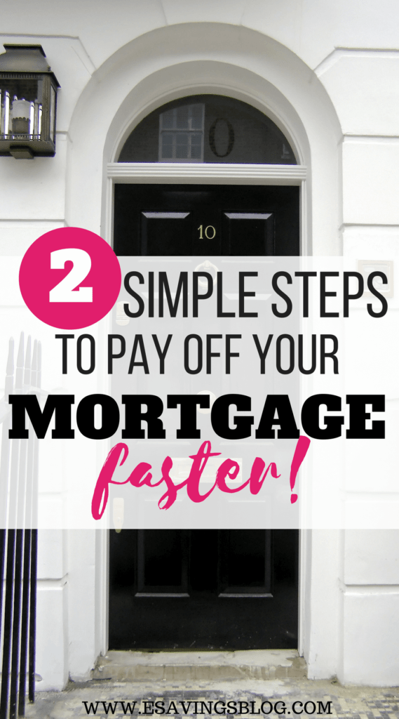 Pay off your mortgage faster with two easy steps.