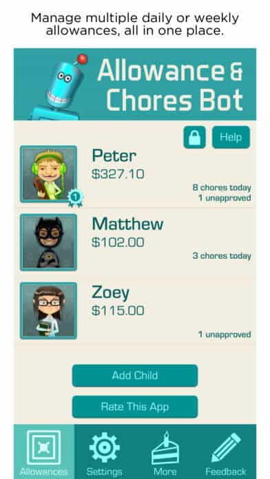 Allowance and Chores app