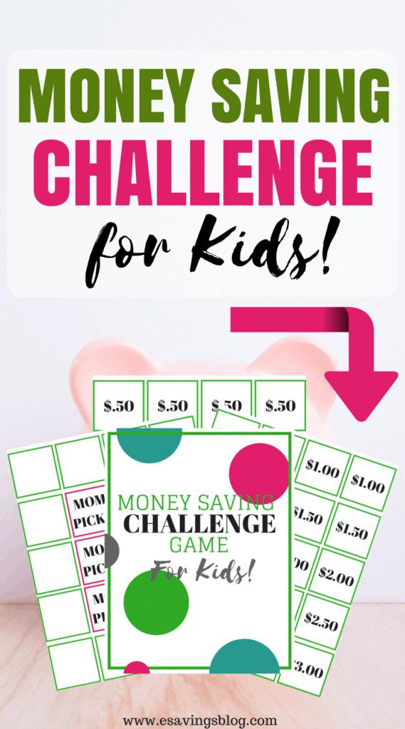 Money Saving Challenge for Kids