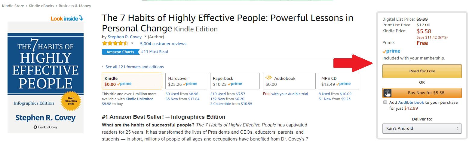 Amazon Prime Free Books