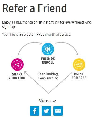 Hp Instant Ink Refer a Friend