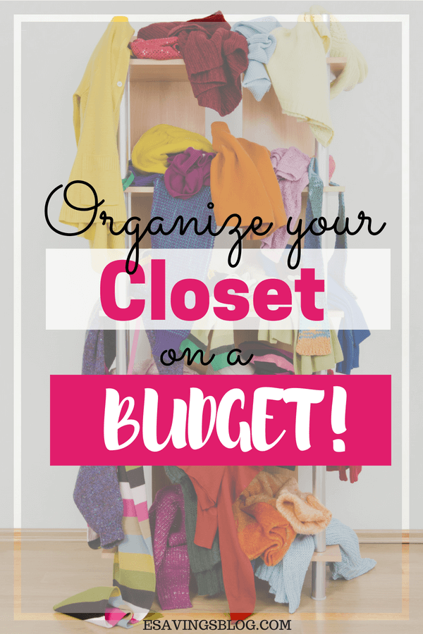 How to organize a closet on a budget!