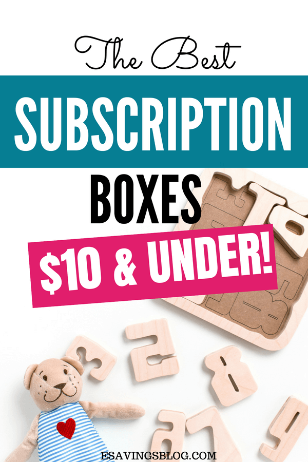 Cheap subscription boxes under $10!