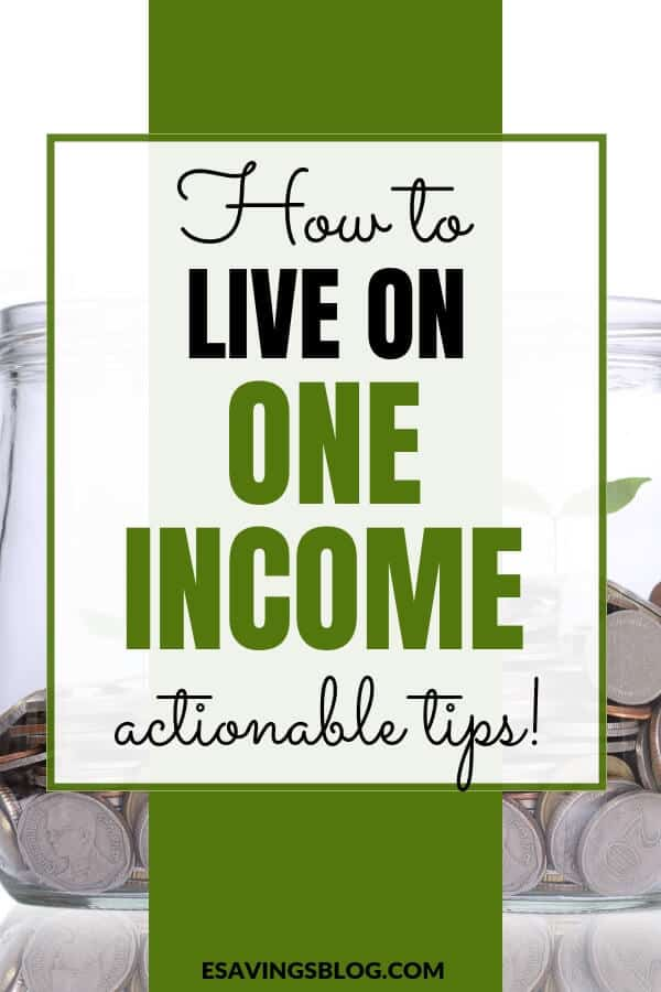 How to Live on One Income. Actionable tips for a one income household.