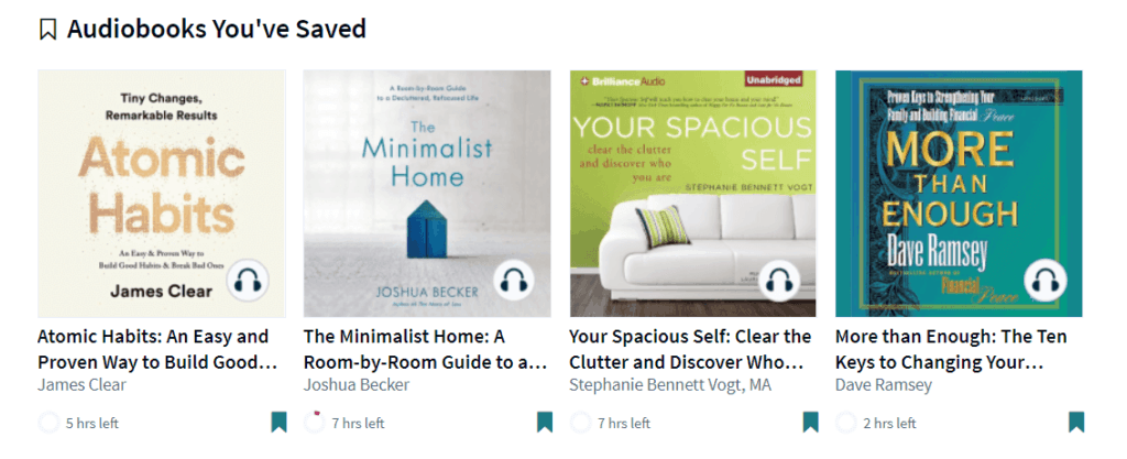 Audiobooks on Scribd website