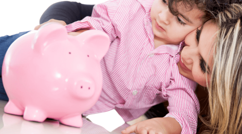 Teach kids to save money by teaching them to use coupons.