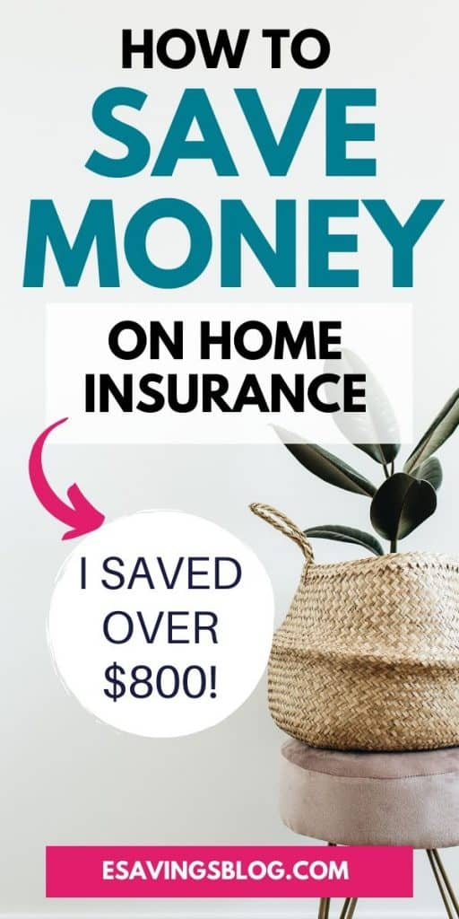 Picture of text saying how to save money on home insurance