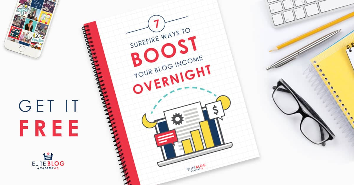 EBA Boost Your Blog Income Overnight Book on a Desk
