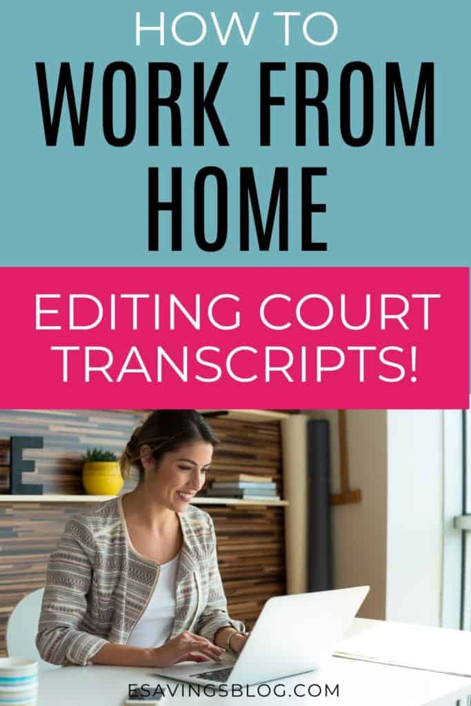 A Woman Working From Home Editing Court Transcripts as a Scopist.