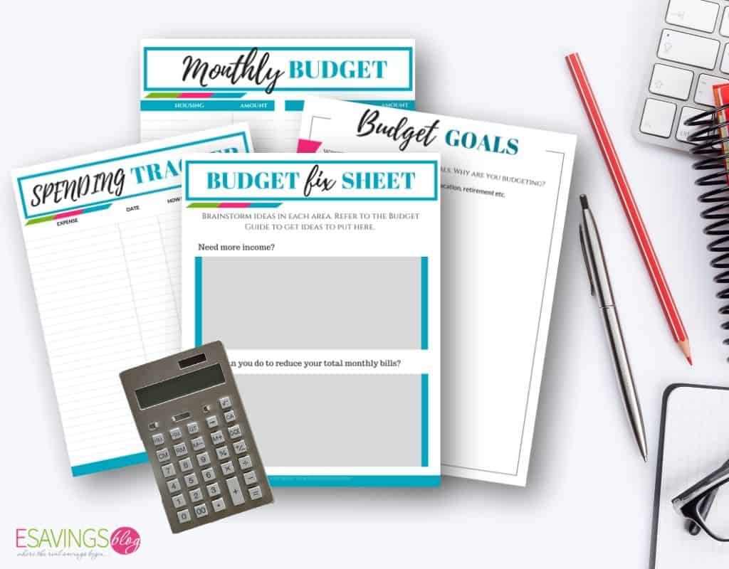 Staying Within Budget With Budgeting Printables