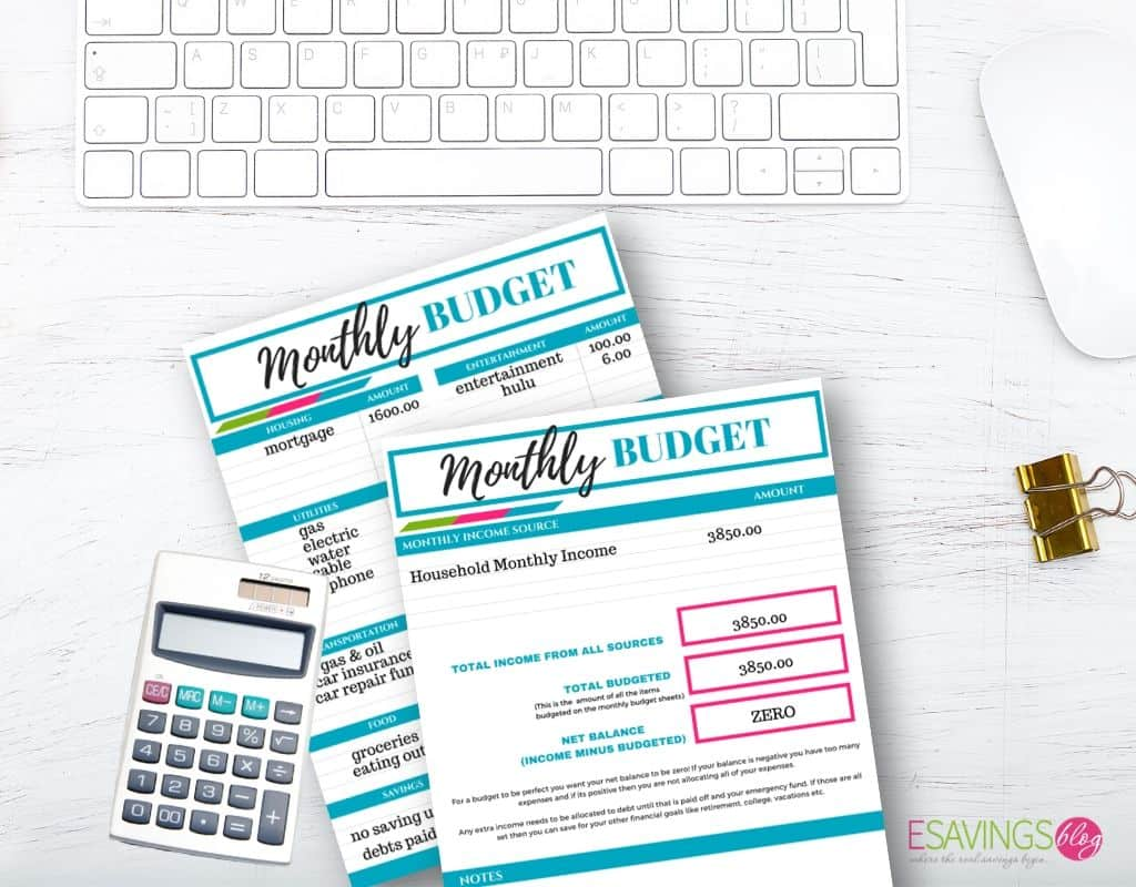 Creating a Zero Based Budget on Budget Printables