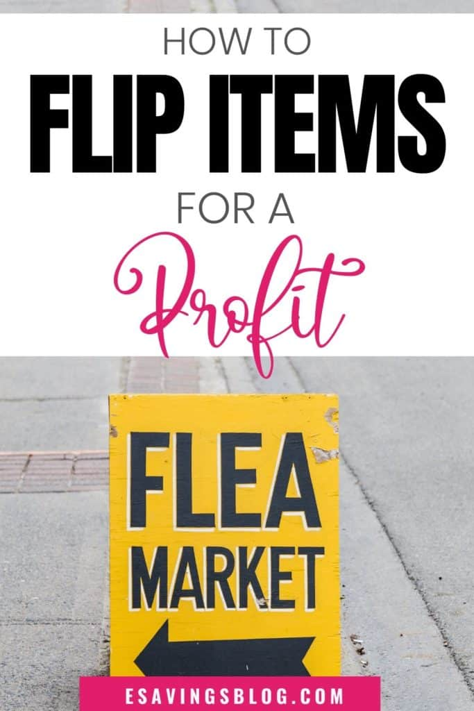 Flipping items for profit