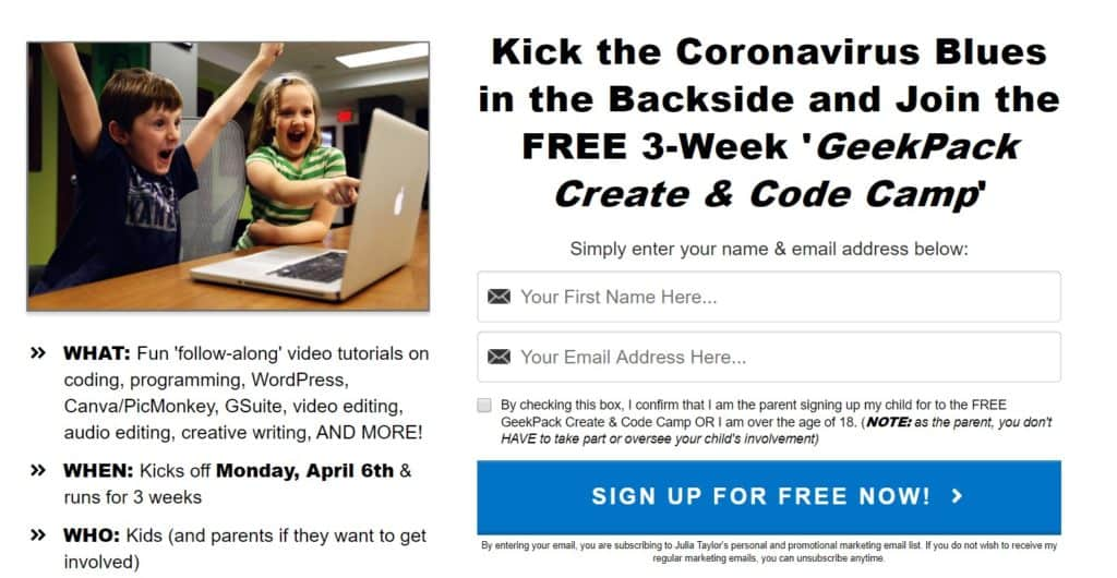 Create & Code Camp for Kids