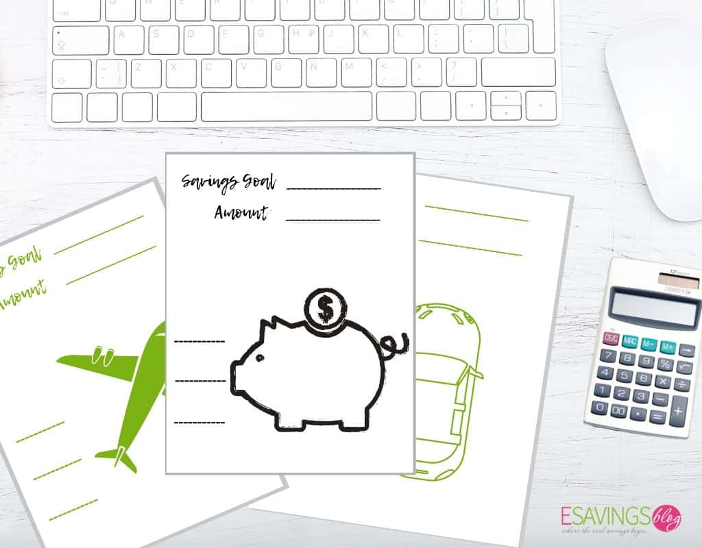 Fun Goal Printables for Budgeting.