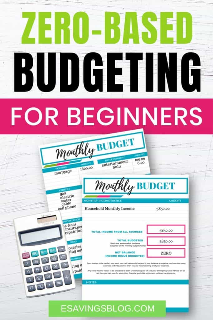 Zero Based Budgeting for Beginners