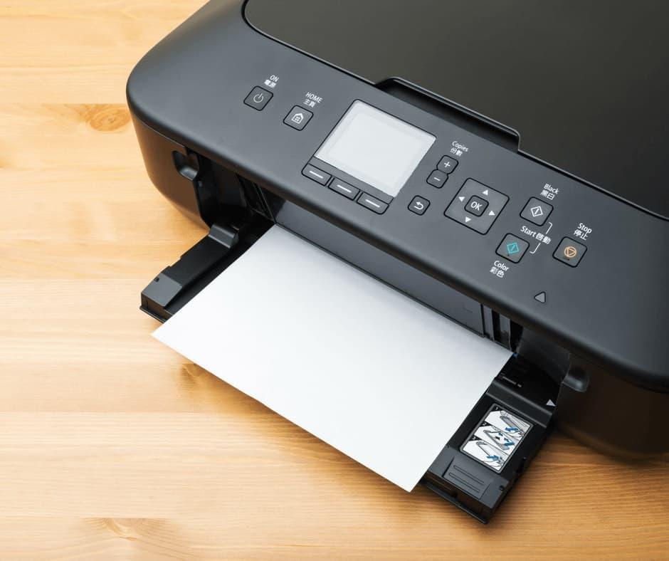Home Printer on a Desk