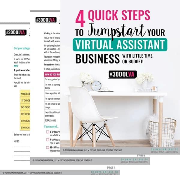 Free Workbook on Starting a VA Business
