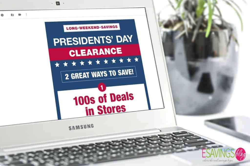 Sale email on laptop
