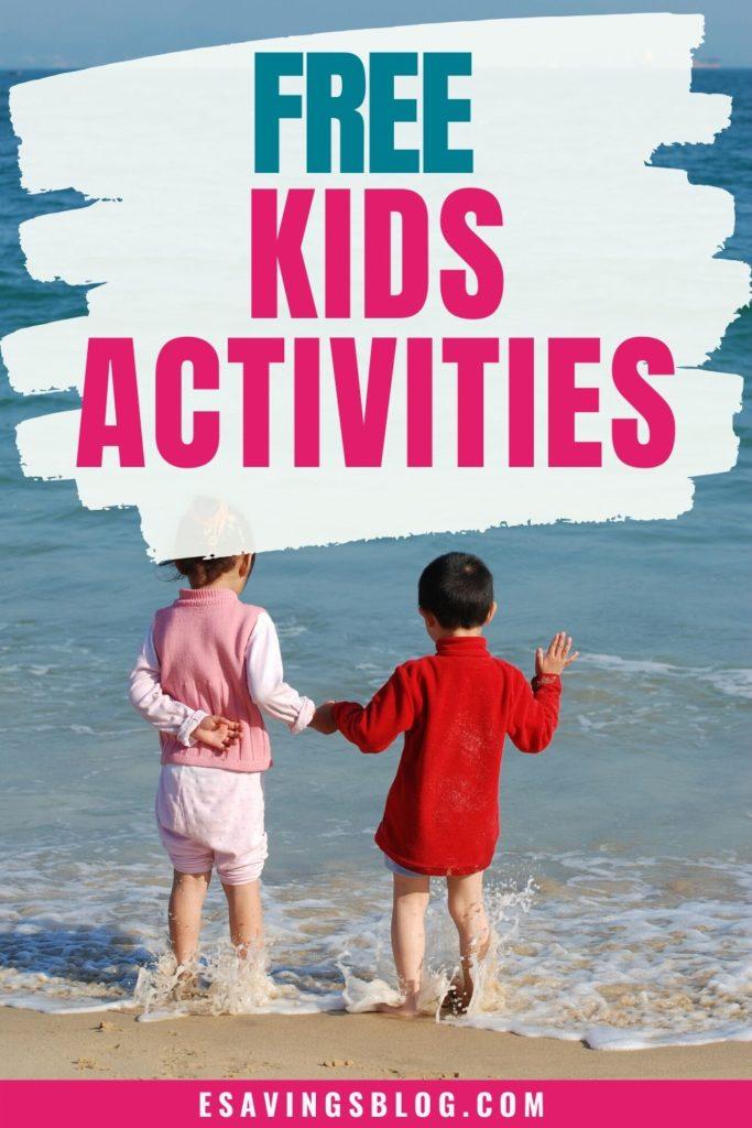 Free Kids Activities Photo of Kids on a Beach