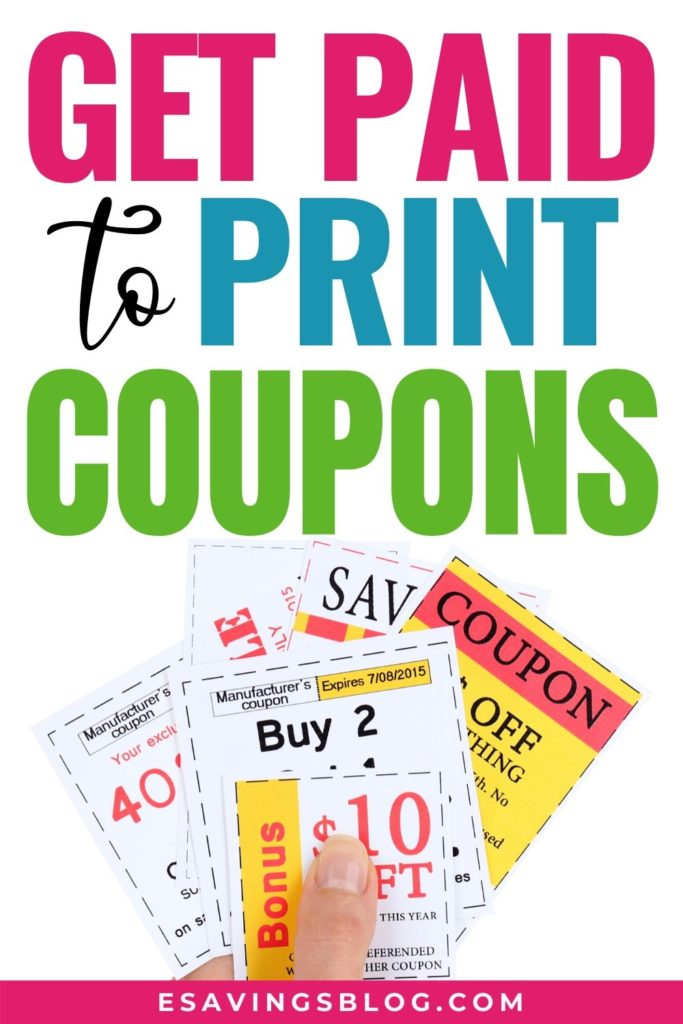 Get Paid to Print Coupons