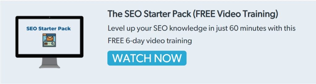 The SEO Starter Pack Free Video Training Image
