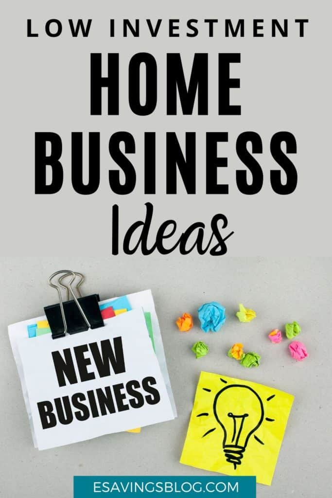 Home Business Ideas with Low Investment