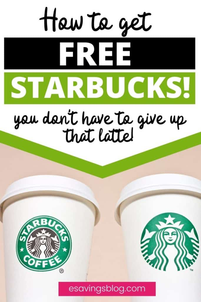 """Picture of two Starbucks coffee cups with a text overlay that says """"How to get Free Starbucks""""."""