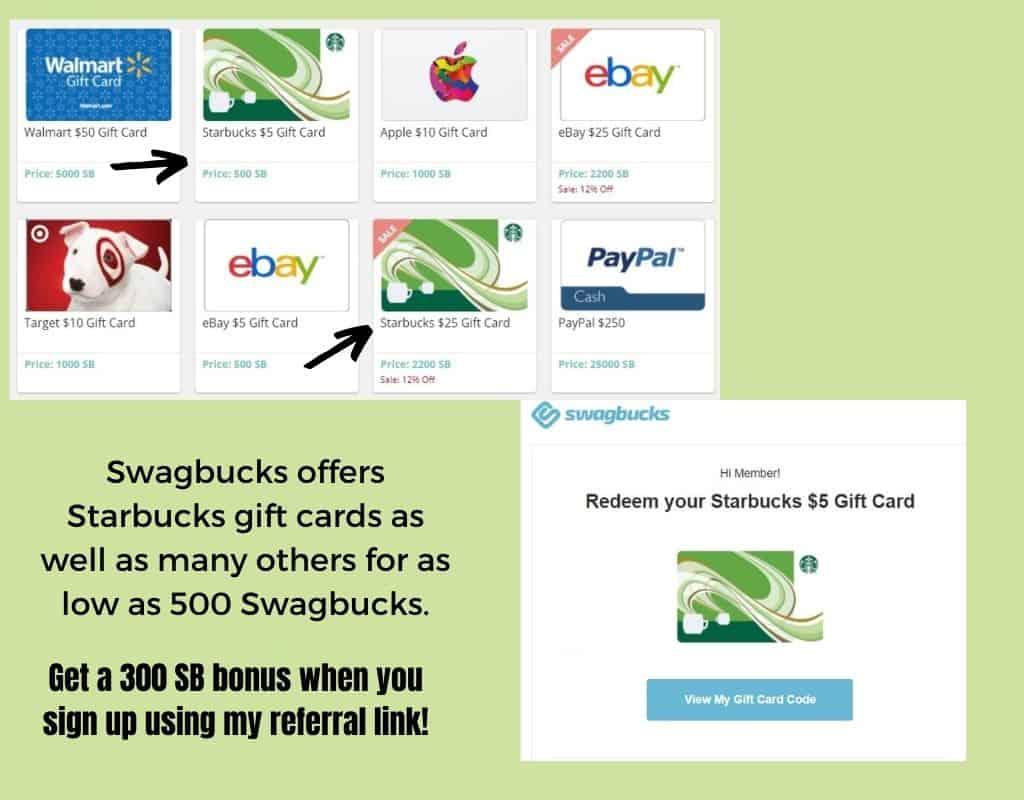 Starbucks Gift Card from Swagbucks