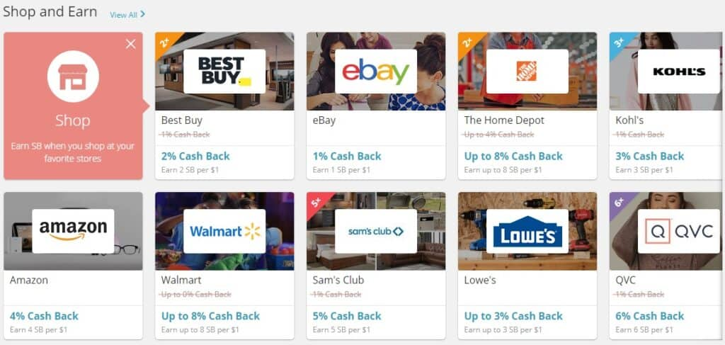 Swagbucks Shopping Cashback Opportunities