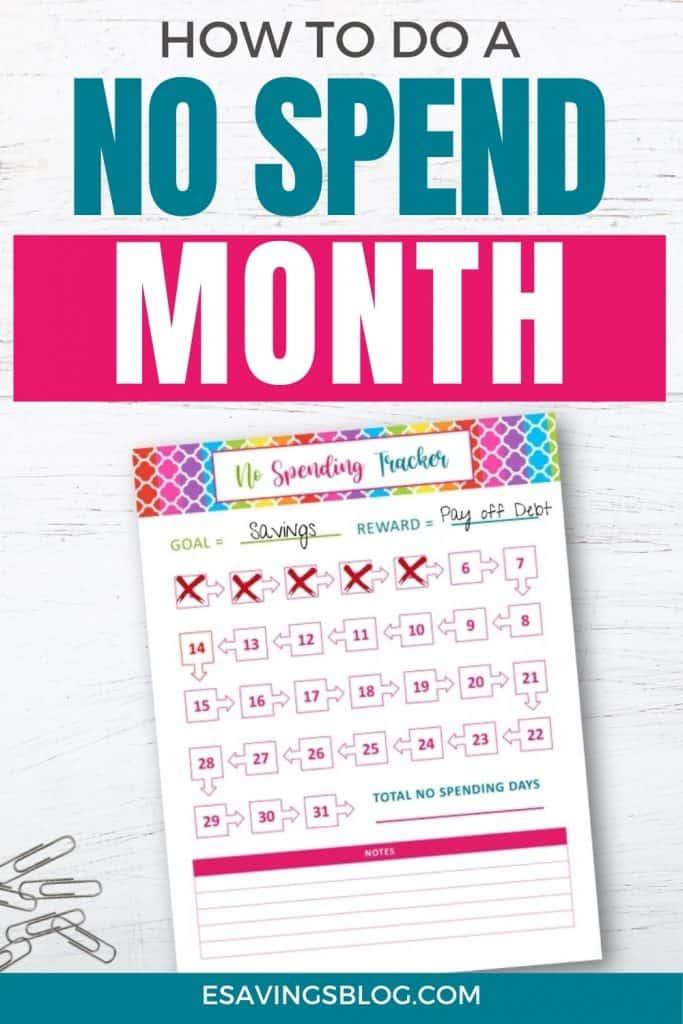 How to do a no spend month