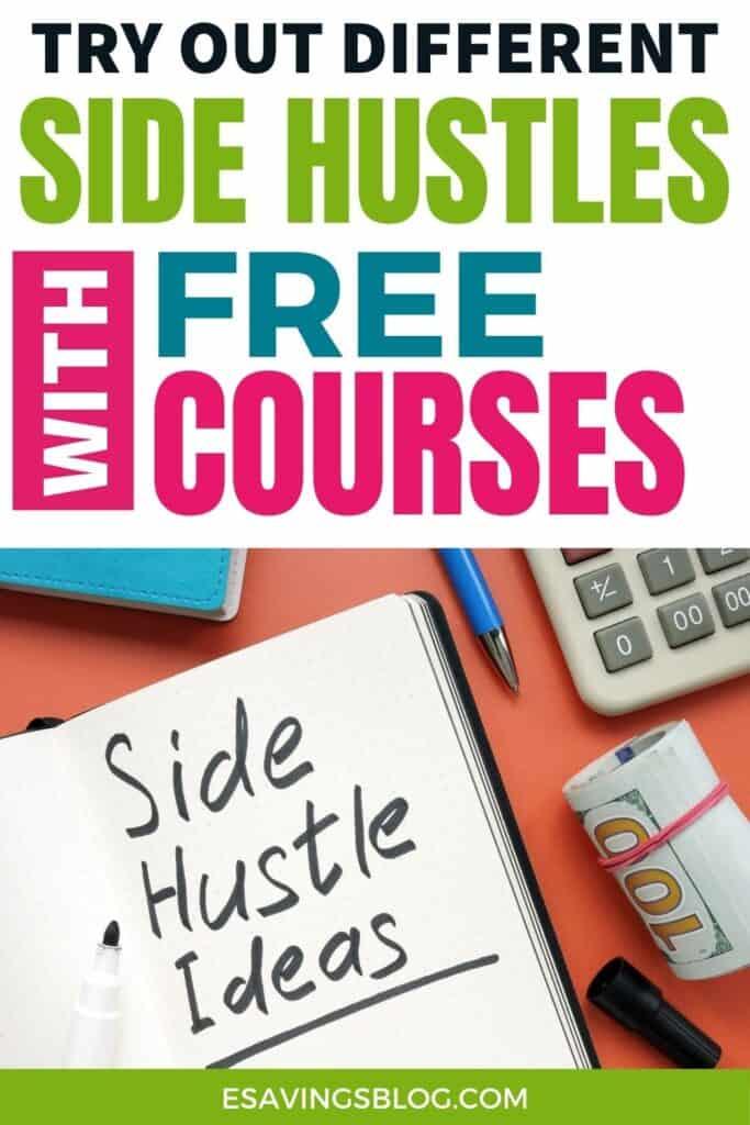 Notebook of Side Hustle Ideas